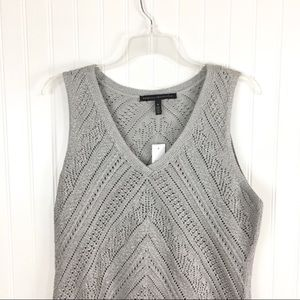 White House Black Market Sweaters - White House Black Market Silver Sleeveless Sweater